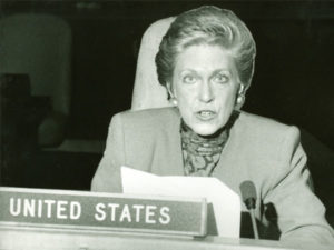 Serving as Alternate US Representative for United Nations, 1989-90