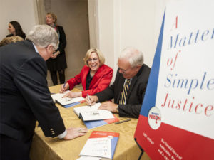 Book signing for A Matter of Simple Justice, 2012