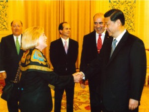 With Chinese President Xi Jinping, 2010