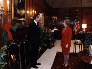 Serving President George H. W. Bush, 1992