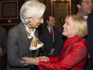 ECNY with IMF Director Christine Lagarde, 2013