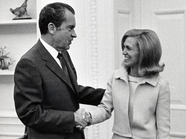 Serving President Richard M. Nixon, 1971