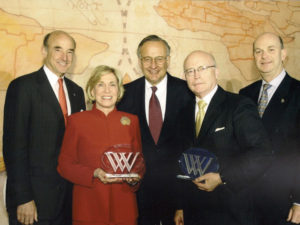 Receiving the Woodrow Wilson Award for Public Service, 2006