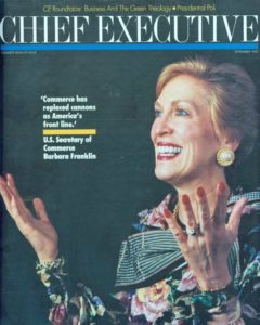 Chief Executive Magazine Cover, 1992